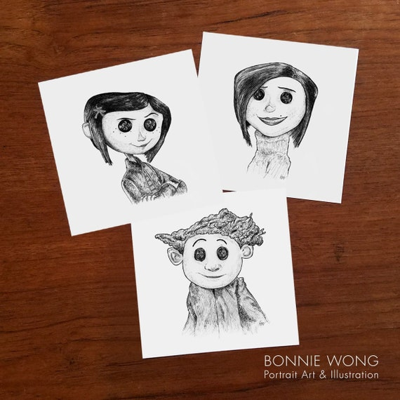 Coraline Wybie Other Mother Art Prints Coraline Jones Etsy