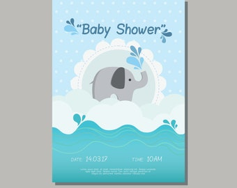 Elephant Baby Shower Invitation, Beatiful Baby Shower Invitation OFFER!