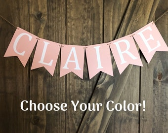Personalized ROOM Mini Banner Personalized Decorative Banners