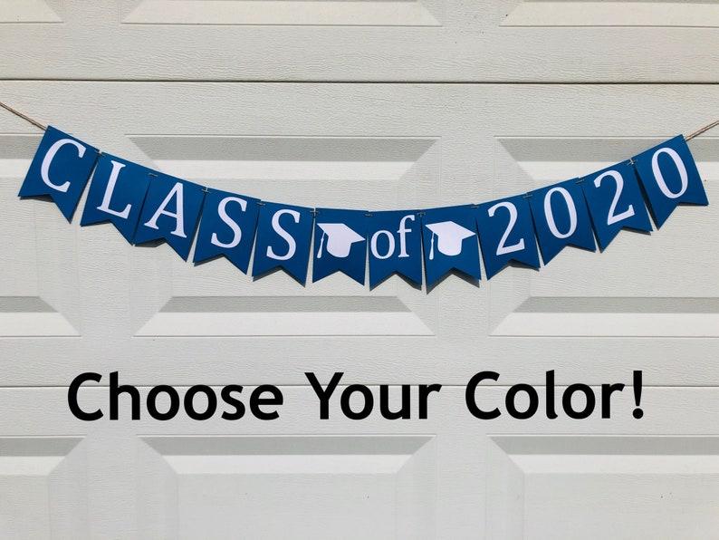 Class of 2020 Banner 2020 Senior Custom Graduation Banner Graduation Party Decor Class of 2020 Graduation Party Banner
