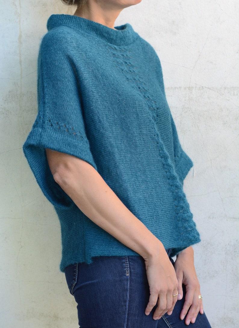 new product f0985 cb581 Blau-grünen Pullover | Übergroße Pullover für Damen, lose stricken  Pullover, Pullover Pulli, Festival Kleidung, Kurzarm Pullover