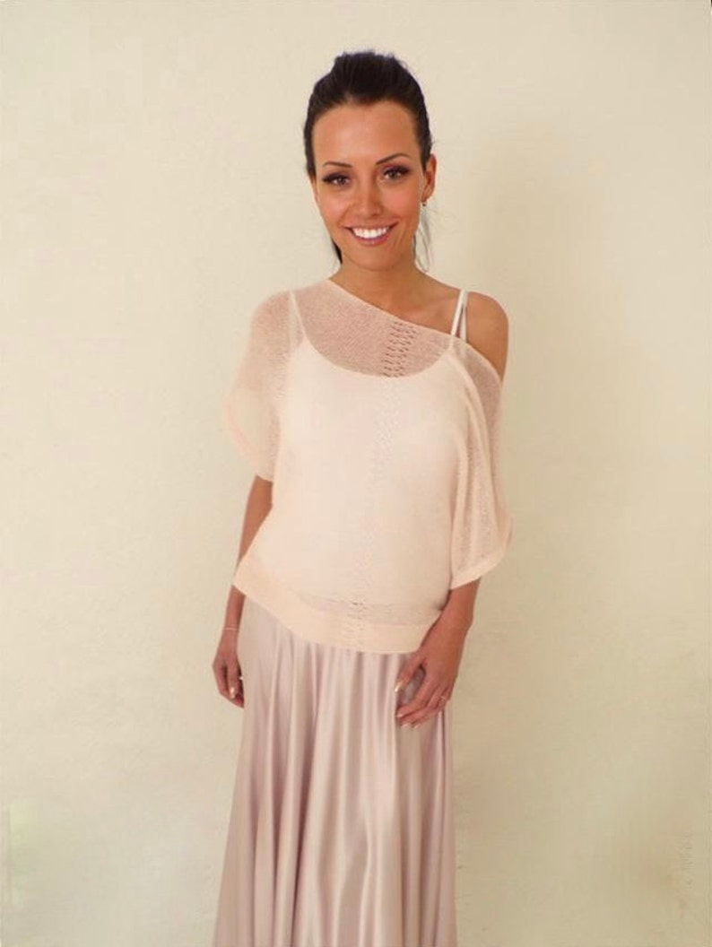 77a649b49866c Pink Sweater for Women Pale Pink Festival Clothing Short