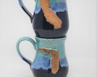 Teal/Blue State Mug- Set of 2- MADE TO ORDER