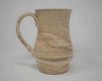 Ceramic Hourglass Light Marbled Mug 15 oz