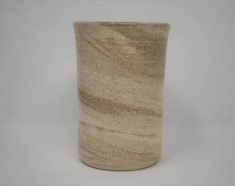 Ceramic Light Marbled Thumbler 12 oz