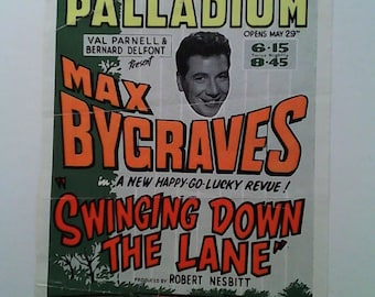 Palladium London Playbill mid-century Max Bygraves, etc....