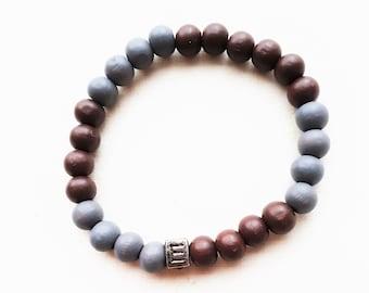 Men's bracelet-wooden beads-HAB1007