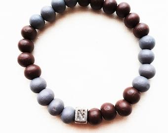Men's Bracelet - Wooden Beads - HAB1005