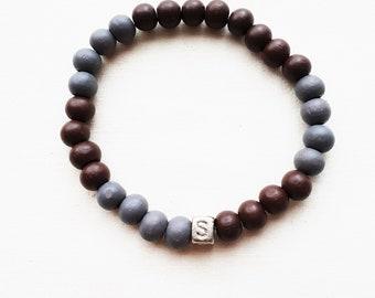 Men's bracelet-wooden beads-HAB1008