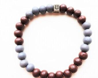 Men's bracelet-wooden beads-HAB1006