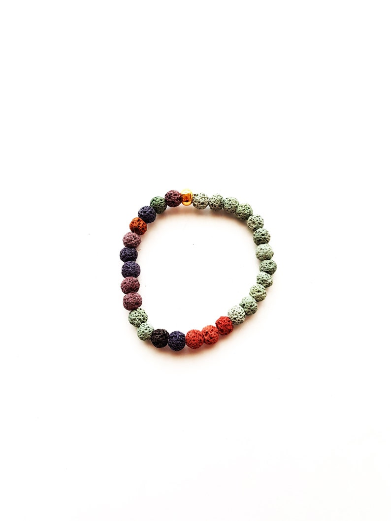 Natural stone Bracelet Lava-ESA 1010
