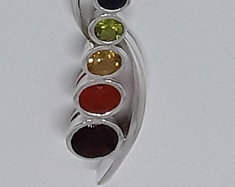 Sterling silver chakra connector