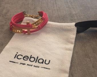 Bracelet Washington-Suede bracelet believe, love, hope