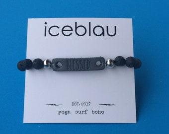 Bracelet Lahaina - made of lava stone beads