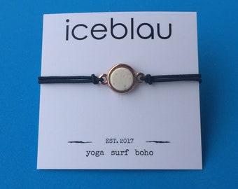 Bracelet Hilo with lava stone pendant