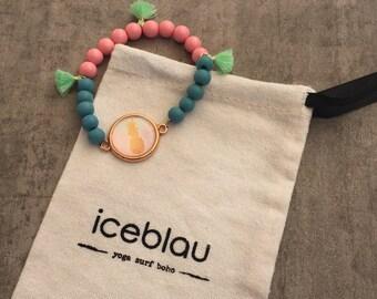 Bracelet Kauai-Pearl bracelet with pineapple & tassel Pendant