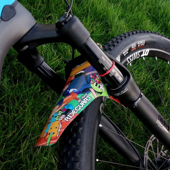 Front MTB Mudguard RideGuard PF1 Enduro Guard Mountain Bike Fender UK Mde Night