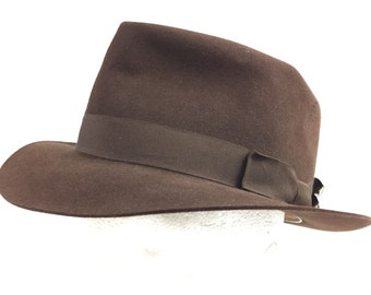 Original 1940s Brown Trilby By Dunn   Co. Size 7 650e7009e62