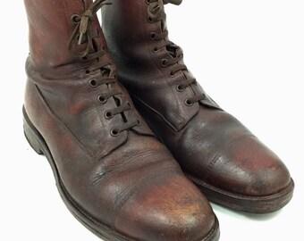 1b30ce0a3b1b6 1940s combat boots | Etsy