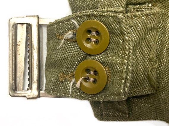 Original 1954 Dated British Army Denim Battledres… - image 5
