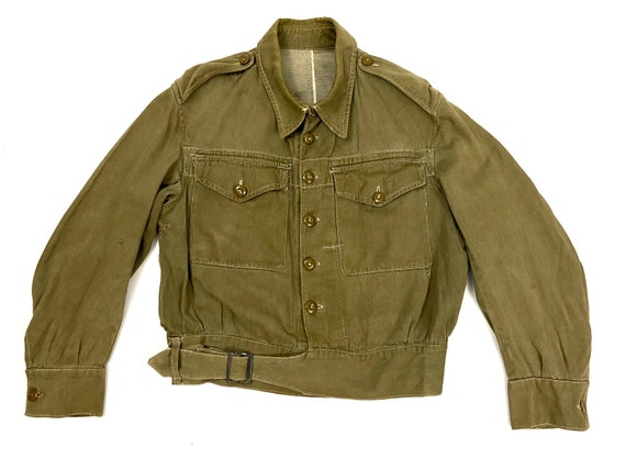 Original 1945 Dated British Army Denim Battledres… - image 1