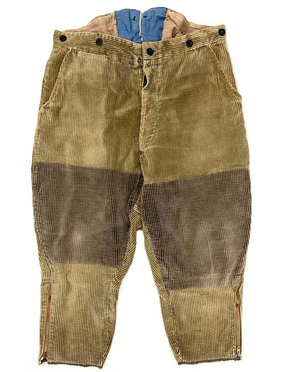 Original 1950s Men's French Workwear Brown Corduro