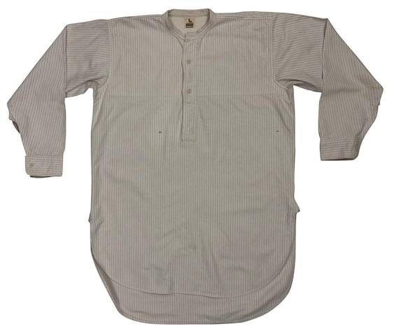 Original 1930s Men's Collarless Shirt by 'Cockspur