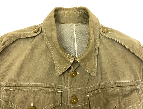 Original 1945 Dated British Army Denim Battledres… - image 2