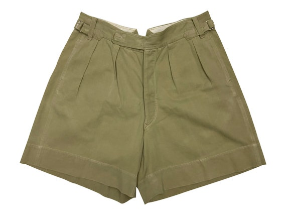 Original 1940s Private Purchase Khaki Drill Shorts