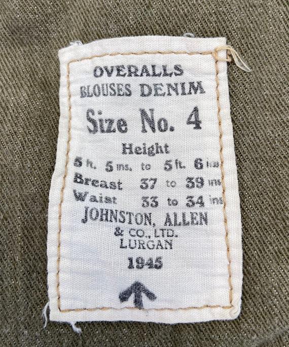 Original 1945 Dated British Army Denim Battledres… - image 7