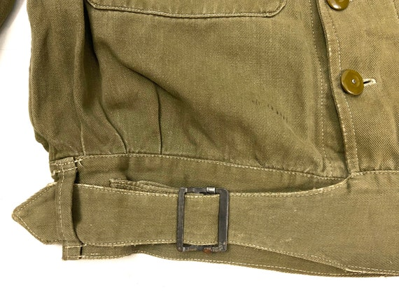 Original 1945 Dated British Army Denim Battledres… - image 5