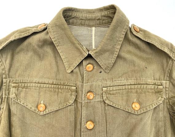 Original 1945 Dated British Army Denim Battledres… - image 2