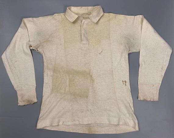 Rare Original 1940s Men's White Sports Shirt