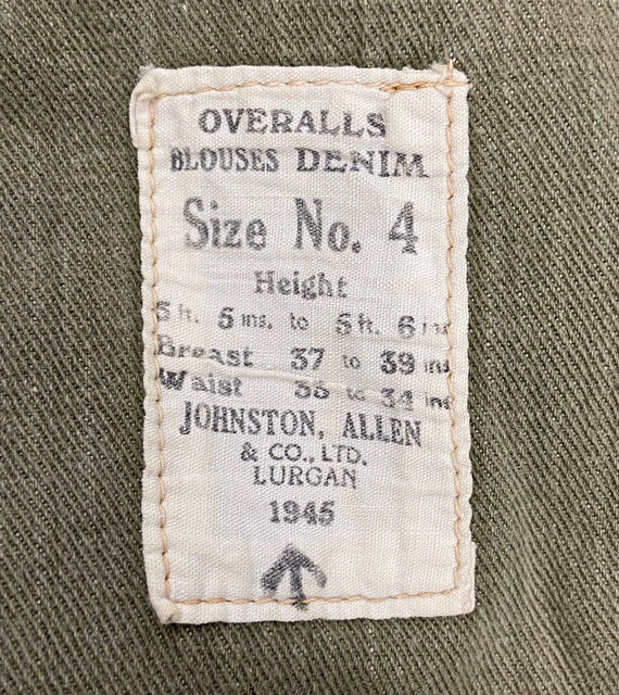 Original 1945 Dated British Army Denim Battledres… - image 8