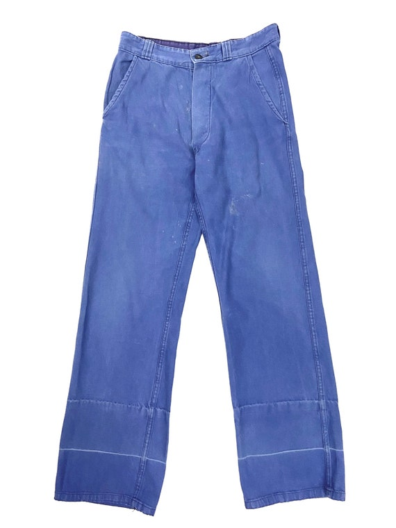 Original 1960s French Blue Workwear Trousers