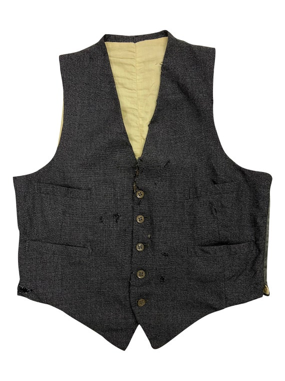 Original 1940s Grey CC41 Men's Waistcoat