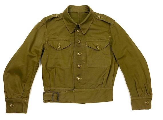 Rare Original 1943 Dated British Army Denim Battle