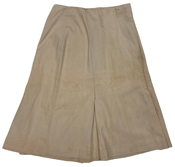 Original 1940s Ladies Beige Skirt