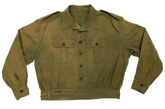 Original WW2 British Army Jungle Green Aertex Batt