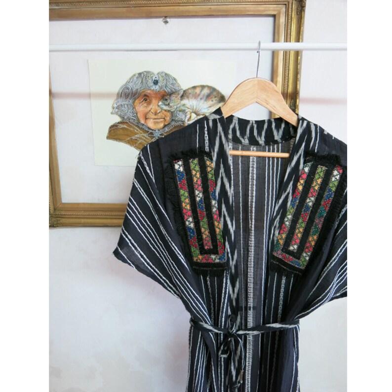 Unique Design Ikat fabric Boho Gypsy Bohemian Chic, Wearable Art Embroidery Kimono African Print Bohemian Clothing