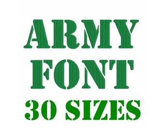 Army Font Etsy