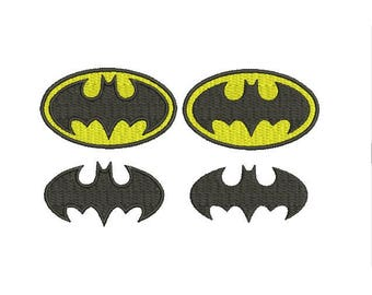 29 Sizes Superhero Batman Logo Fill Symbol Design Embroidery Machine Instant Download Digital File EN2146F1