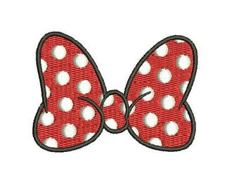 29 Sizes Walt Disney Minnie Mouse Girl Bow Design Fill Embroidery Machine Instant Download EN2163F3