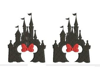 Disney Castle Minnie Mouse Ears Design Embroidery Walt Disney World Embroidery Fill Machine Instant Download Digital File EN2057FC2FD2
