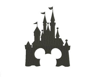 Disney Castle Mickey Mouse Design Embroidery Fill Machine Embroidery Instant Download Digital File EN2057F1