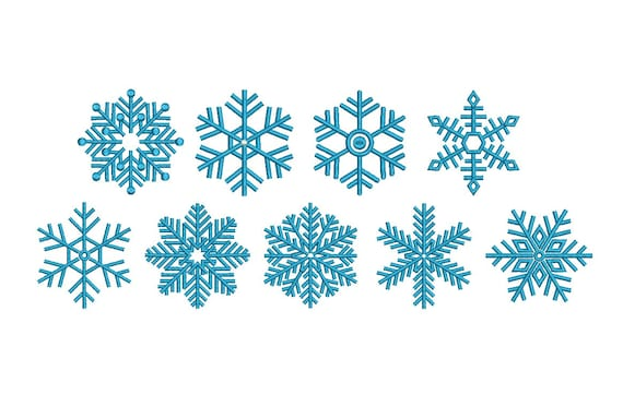 snowflake design embroidery set fill snow flake embroidery etsy