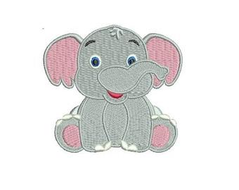 Elephant Design Embroidery Design Fill Design For Boy Girl Baby Machine Embroidery Instant Download Digital File EN2014F2