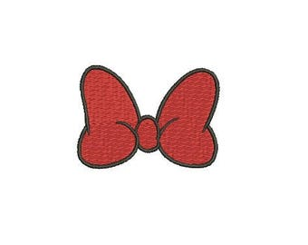 29 Sizes Walt Disney Minnie Mouse Girl Bow Design Fill Embroidery Machine Instant Download EN2190F7