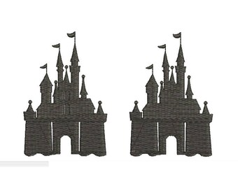 Disney Castle Mickey Mouse Design Embroidery Walt Disney World Embroidery Fill Machine Instant Download Digital File EN2057F3F3A