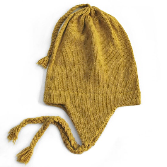 100/% Alpaca Wool Cap Beanie Hat Off-White One Size ~ Women Men Accessories
